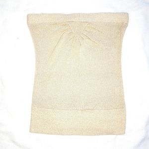FWR sparkly gold knit tube top